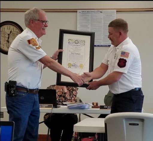 Former fire chief named Nebraska Admiral