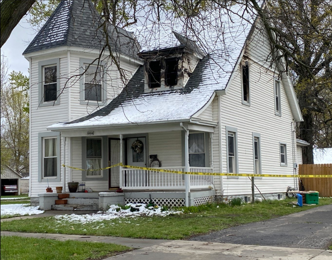 Overnight house fire at Falls City