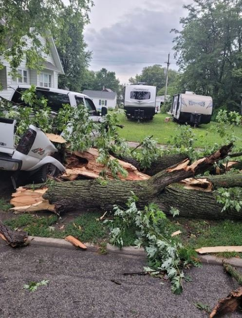 EMA working on damage report from overnight thunderstorm