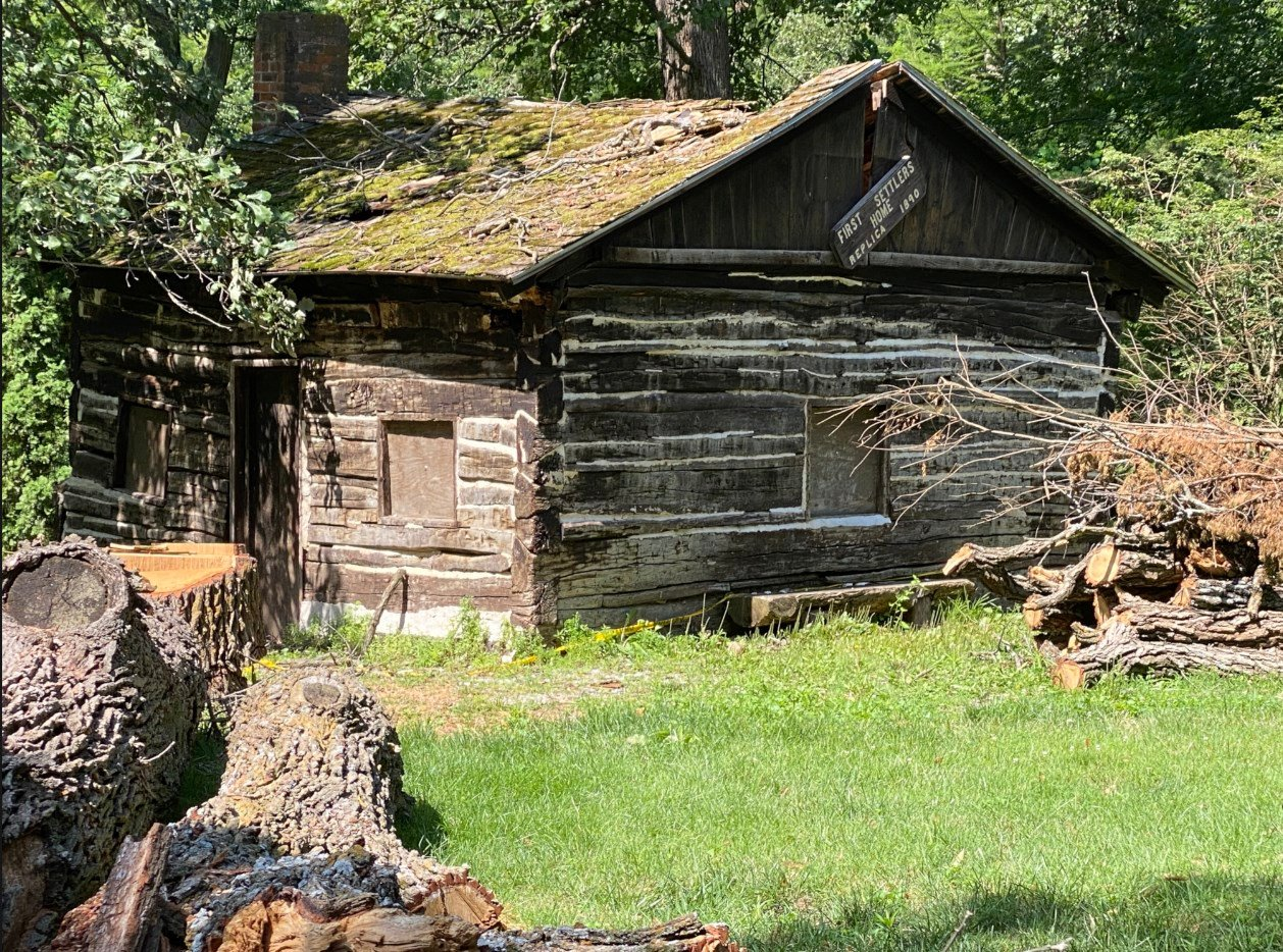Settlers' Cabin takes tree damage