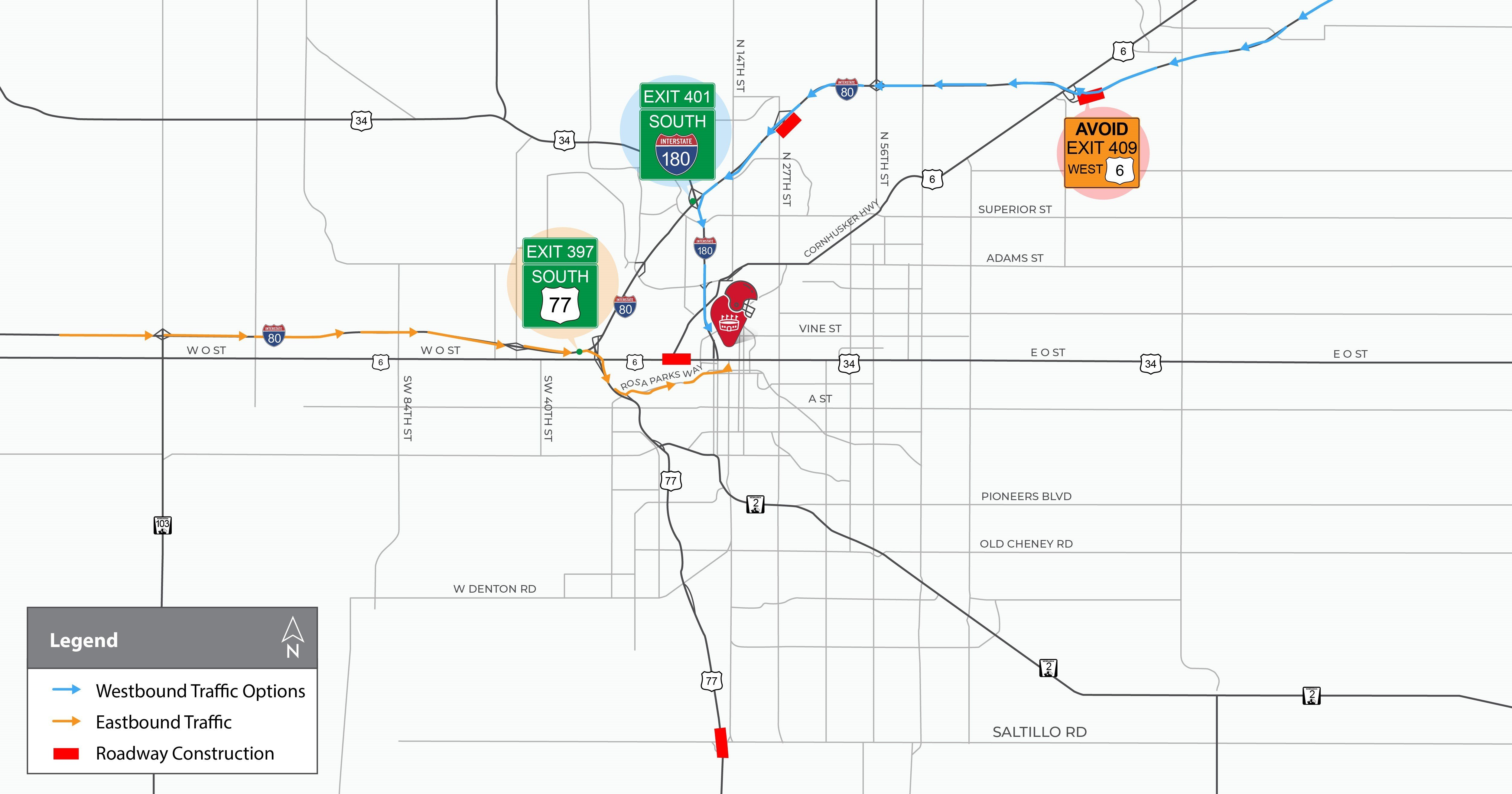 Traffic tips for gameday in Lincoln