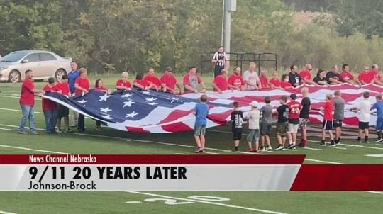 9/11 tribute at Johnson-Brock
